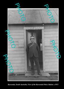 OLD-LARGE-HISTORIC-PHOTO-KAROONDA-SOUTH-AUSTRALIA-THE-POLICE-STATION-c1915