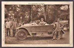 GERMAN-WW1-CAR-OFFICERS-MILITARY-TRANSPORTATION-ANTIQUE-POSTCARD