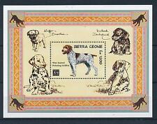[28448] Sierra Leone 1994 Animals Chinese New Year Dog Griffon MNH Sheet