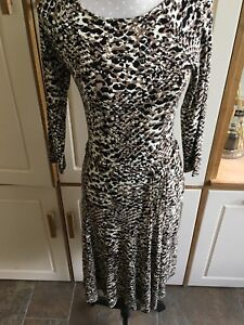 Cream Size 'brooklina' Patterned New Ladies Dress Lauren Brand S Ralph wqpIY