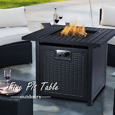 Afterglow Cottage Square Terrafab Slate Look Top Steel Base Propane Gas Fire Pit For Sale Online Ebay