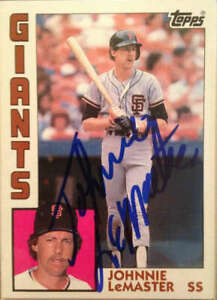 Johnnie LeMaster Autographed 1984 Topps #663