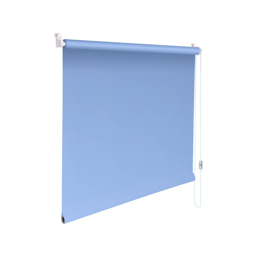 Minirollo Klemmfix Sichtschutz-Rollo - Höhe 90 cm hellblau | Eleganter Stil