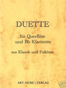 QUERFLOTE-KLARINETTE-50-DUETTE-KLASSIK-amp-FOLKLORE-NOTEN