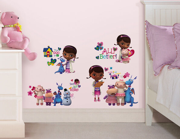 DOC MCSTUFFINS GIRLS ROOMMATES REMOVABLE WALL STICKERS - NEW