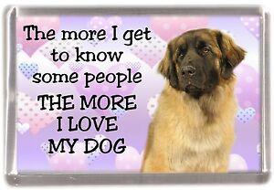 Leonberger-Dog-Fridge-Magnet-034-THE-MORE-I-LOVE-MY-DOG-034-by-Starprint