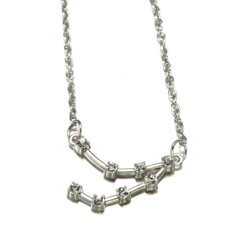 Zodiac Astrology Constellation Necklace Silver//Gold Pendant Clavicle Chain Gift