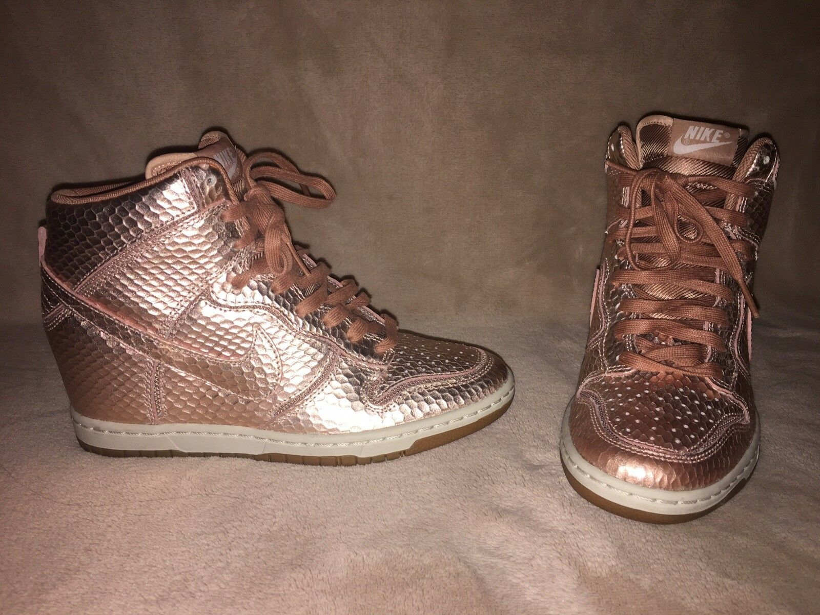 Nike Dunk Sky High Cut Out pink gold Sz 6.5