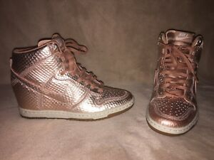 check-out 91d69 b28d9 Details about Nike Dunk Sky High Cut Out Rose Gold Sz 6.5