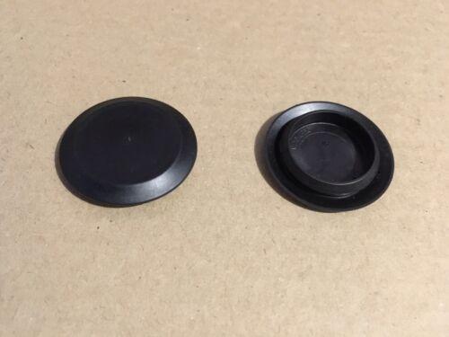 "20 x 1/"" 1 Inch Flush Mount Black Plastic Body and Sheet Metal Holes Plug SI 413"