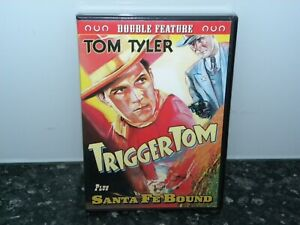 TRIGGER-TOM-SANTA-FE-BOUND-TOM-TYLER-DVD-NEW-SEALED-WESTERN