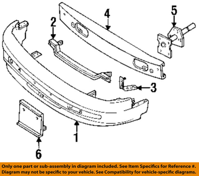 Mercury Ford Oem 93 95 Villager Bumper Cover F3xy17d957a