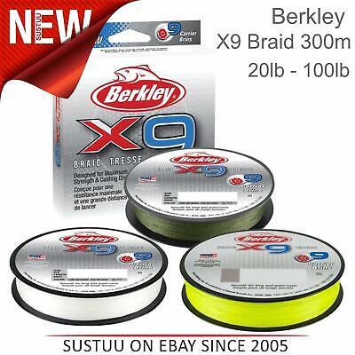 BERKLEY X9 FLAME GREEN 300MT 0,17MM