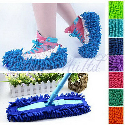 1xMultifunction Dust Floor Cleaning Slippers Shoes Mop House Clean Shoe Cover