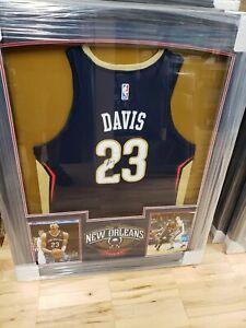 Details About Anthony Davis Pelicans Signed Autographed Framed Basketball Jersey Jsa La Lakers