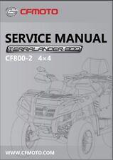cfmoto x8 cf800-2 terralander 800 4x4 atv service repair & owner's manual cd