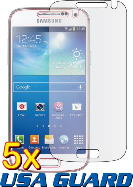 5x Clear LCD Screen Protector Guard Samsung Galaxy S4 Mini Duos GT-i9192 i9195