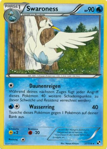 Swaroness KP90-37//114 Pokemon Schwarz /& Weiss Neu Sternchen Karte