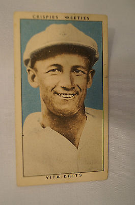 "1948 Nabisco ""Leading Cricketers"" Vintage Cricket Card - Don Bradman."