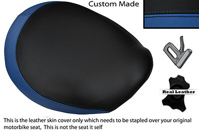 BLACK & ROYAL BLUE CUSTOM FITS TRIUMPH THUNDERBIRD 1600 1700 FRONT SEAT COVER