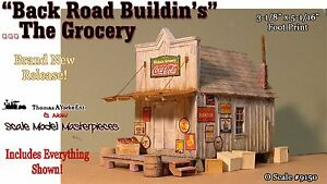 Scale-Model-Masterpieces-Yorke-034-Back-Road-Buildin-039-s-034-The-Grocery-Kit-O-1-48