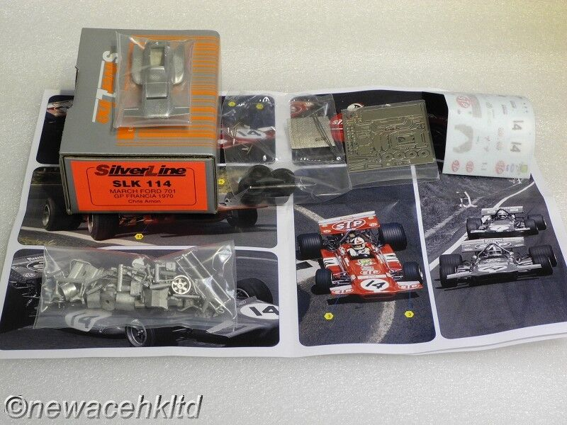 MARCH FORD 701 FRENCH GP 1970 CHRIS AMON TAMEO KIT 1 43  SLK114