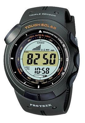 CASIO PROTREK TOUGH SOLAR TRIPLE SENSOR ARMY GREEN WATCH PRG-120-3 PRG-120-3VDR