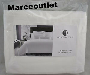Hotel-Collection-680-TC-Supima-Cotton-FULL-QUEEN-Duvet-amp-STANDARD-Shams-White