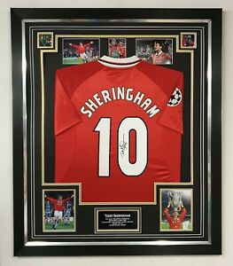 Teddy Sheringham Signed Shirt 1999 Autographed Jersey