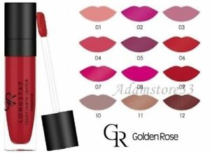 Golden Rose Longstay Liquid Lipstick Rich Matte Pigment 26 Colours