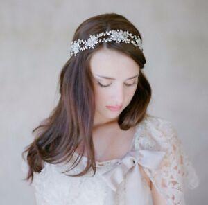 Flapper-Bridal-Wedding-Rhinestone-Crystal-Silver-Prom-Party-Hairband-Headpiece