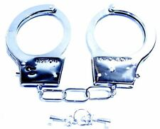Toy Police Cop Handcuff Kids Party Costume Accessories Play Chrome Silver