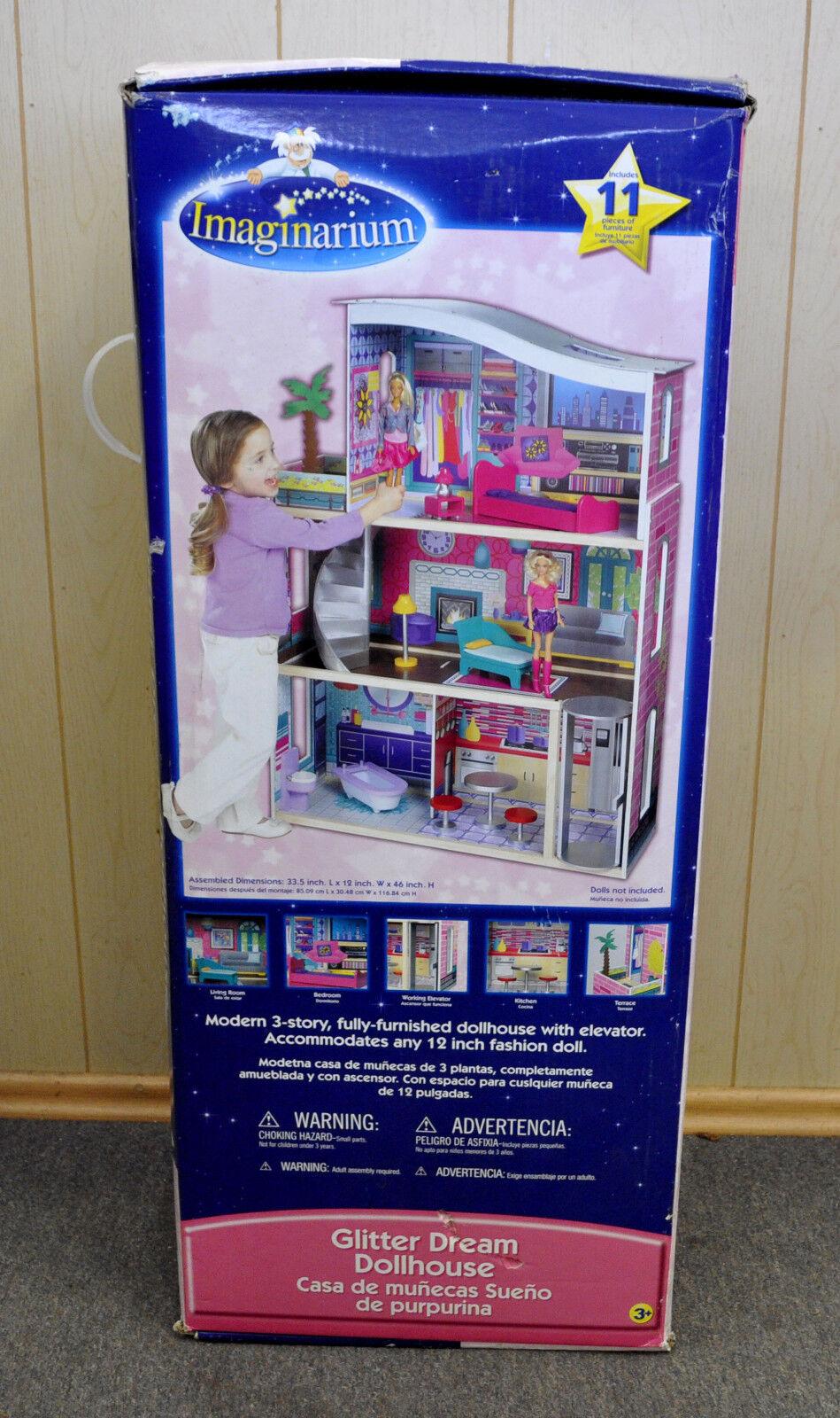 NEW Imaginarium Glitter Barbie Size Doll House NIB