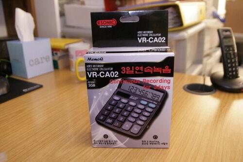 Desktop Calculator with spy Voice Recorder VR-CA02