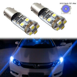 Error-Free-64132-H6W-Ice-Blue-LED-Bulbs-For-Audi-Mercedes-Benz-Parking-Lights