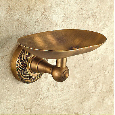 Antique Brass Soap Dish Holder Wall Mounted