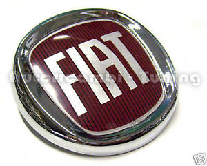 FRIEZE-COAT-OF-ARMS-REAR-FIAT-MULTIPLA-LOGO-ROJO-CHROME-PLATED-120mm-43-305