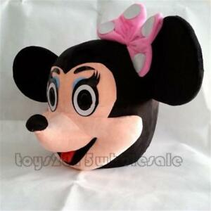 Christmas Minnie Mouse Head.Details About Christmas Minnie Mouse Heads Mascot Costume Party Clothing Fancy Dress Suit New