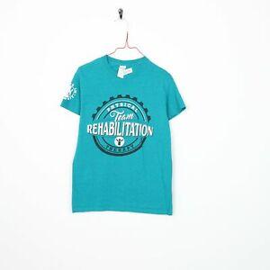 Vintage physique équipe Big Logo Graphique T Shirt Tee vert | Petit S