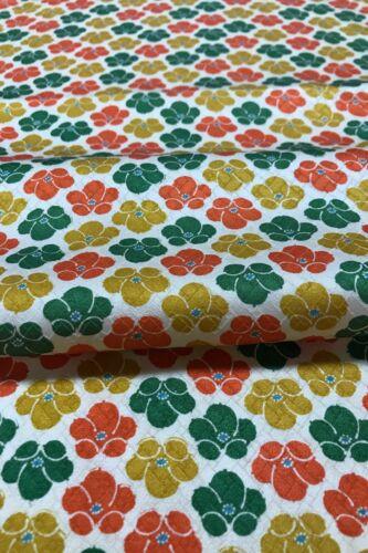 plumEX68 @@150 cm// Japanese vintage kimono silk fabric// smooth silk// cream base