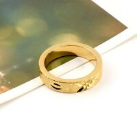 COOL 18K Yellow Gold Filled Unisex Ring Wedding Band 5MM Jewelry Size 9