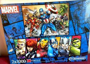 Clementoni Marvel Avengers 2 x 1000 Piece Jigsaw Puzzle 98129 High Quality