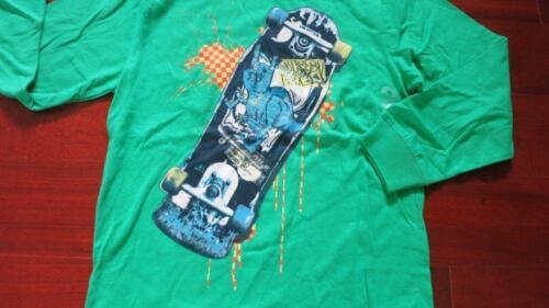 Gap Boys green Graphic skate long sleeve tee shirt large 10 xl 12 new