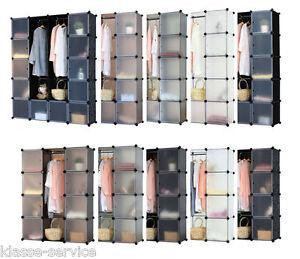 Schrank Regal Steckregal Regalsystem Kleiderschrank Garderobe