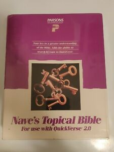 Nave-039-s-Topical-Bible-Game-5-25-034-Floppy-Disk-Parsons-Technology-QuickVerse-2-0