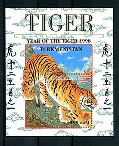 Raisonnable Turkménistan 1998 Neuf Sans Charnière Année Du Tigre 1v M/s Nouvel An Lunaire Chinois Timbres-afficher Le Titre D'origine Parfait Dans L'ExéCution