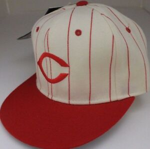 BRAND-NEW-Cincinnati-Reds-Fitted-Cap-59Fifty-New-Era-Diamond-Size-6-5-8-STRIPED