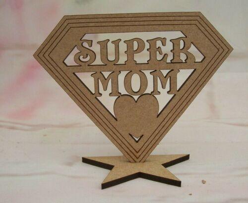 Super Mamá Mamá NAN GRAN placas Craft en Blanco Mamá Regalo Mdf