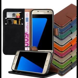 COVER-per-Samsung-Galaxy-libro-Wallet-Stand-Custodia-con-tasca-di-carta-di-lusso-flip