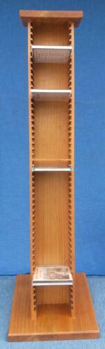 CD-Ständer Holz Kirschbaum lackiert CD für 51 CDs Höhe 99 cm deutsche Handarbeit